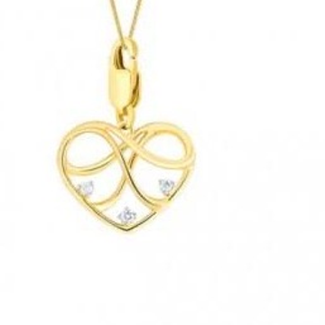 22kt, 916 Hm, Yellow Gold Freestyle patterned heart Pendant Jkp010
