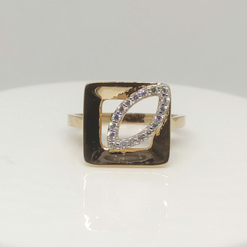18Kt Roese Gold Fancy LR Ring  by