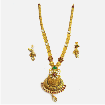 916 Gold Antique Wedding Long Necklace Set RHJ-4992