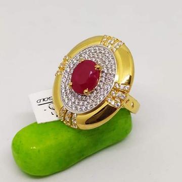 916 Gold CZ Calssic Ladies Ring RH-LR88
