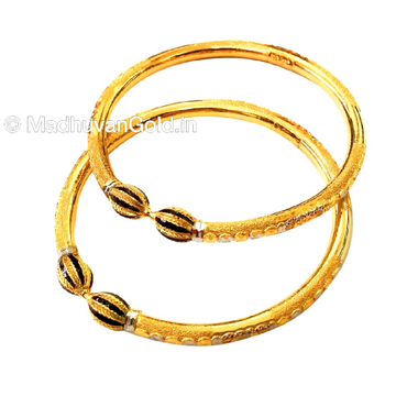 22k Gold Meenakari Copper Kadli Bangles MGA - GK025
