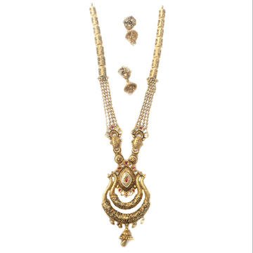 916 Gold Antique Necklace Set MGA - GN026