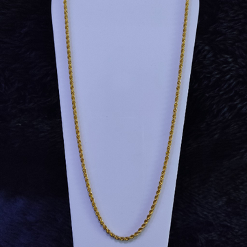 22KT/916 Yellow Gold Gazelle Chain For Unisex