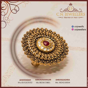 ANTIQUE JADTAR RING 916 by