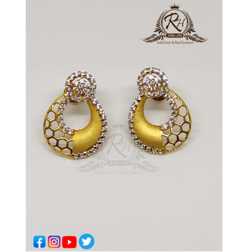 22 carat gold antique butti RH-ER303