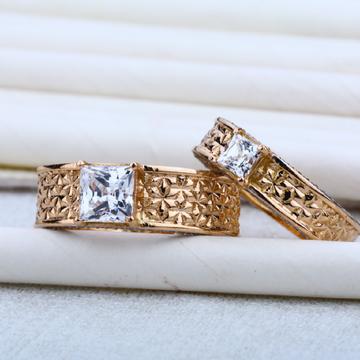 Rose Gold 18K Cz Engagement RING-RCR07