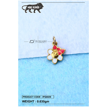 18 carat gold Kids pendent flower ipg0029