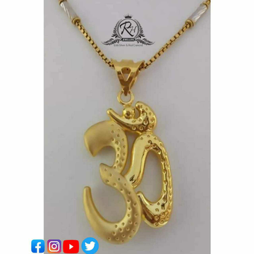 22 Carat Gold Ok Pendant Chain RH-PC497