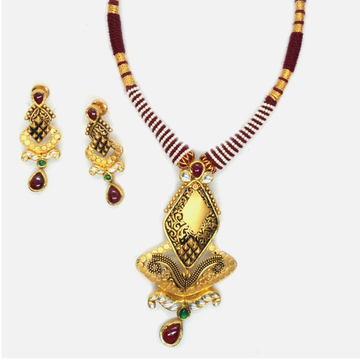 916 Gold Antique Necklace Set RHJ-4145