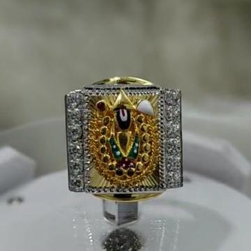 916 Gold Fancy Gent's Balaji Ring