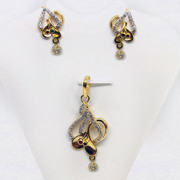 916 gold cz pendant set sk-ps004 by