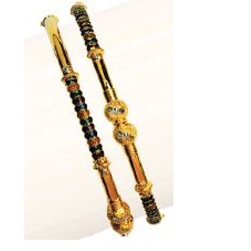 22K/916 Gold Antique Single pipe kadli