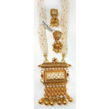 916 Gold Antique Jaisalmeri Pendant Set - LJ-11