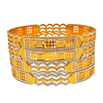 1 gram gold plated fancy bangles mga - bge0268
