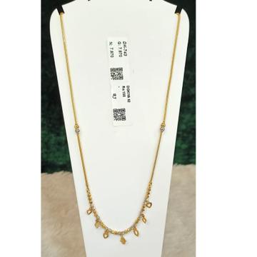22KT Gold Hallmark Trendy pendant Chain