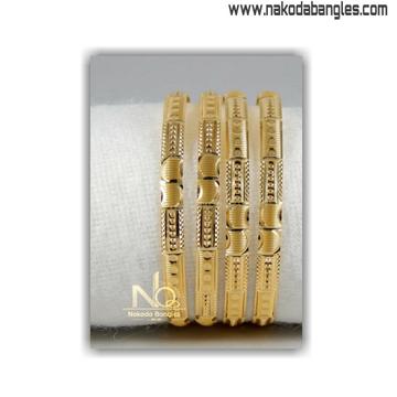 916 gold patra bangles nb - 1403