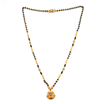 One Gram Gold Forming CZ Diamond Mangalsutra MGA - MSE0053