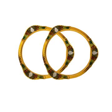 916 Gold Antique Copper Kadli Bangle RJA-007