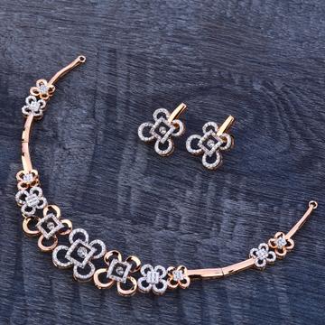 18Ct Rose Gold Designer Hallmark Ladies Necklace Set RN179