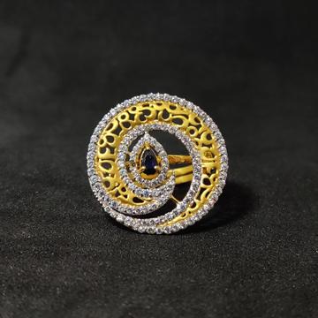 916 Womenswear Exclusive Designer Gold Ring-15018