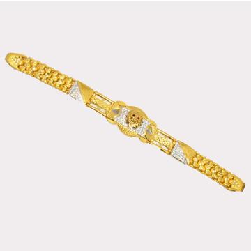 916 Gold Antique Gents Lucky Bracelet