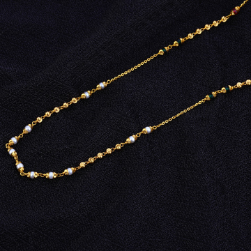 Ladies 916 Gold Cz Moti Mala-AC130