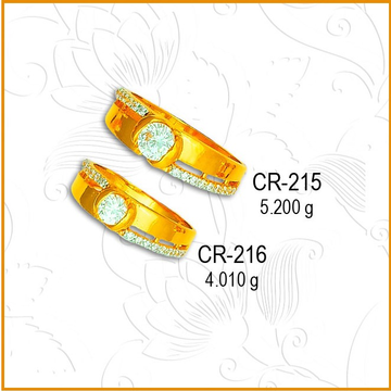 916 Gold Fancy CZ Diamond Couple Ring CR-215