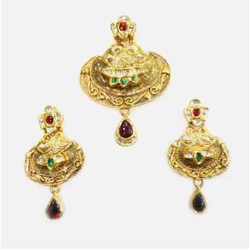 916 Gold Antique Pendant Set RHJ-1827