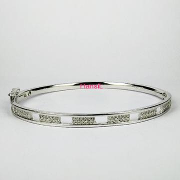 92.5 sterling silver cz stone Kada bracelet ML-76