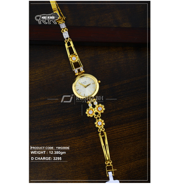 18 Carat Gold Ladies gold watch Titan Raga ywg0006