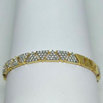 22K diamond & gold Pyramid design bracelet