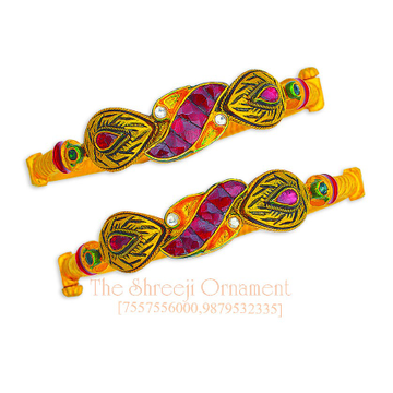 916 Gold Attractive Jadtar Copper Kadali Bangle - 0014