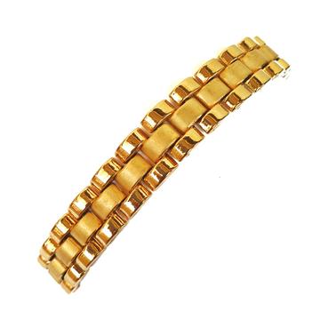 One gram gold forming plain designer bracelet mga - bre0095