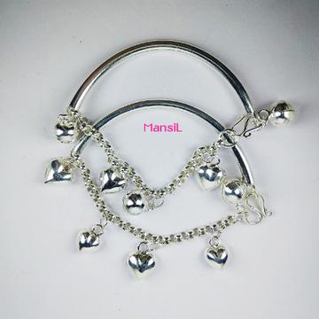 92.5 sterling silver Baby kada bracelet ML-107