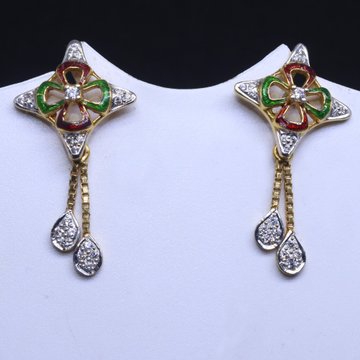 22KT / 916 Gold Colorful Mina earring for Ladies BTG0054