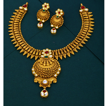 916 hallmark Antique  spellbinding floral gold necklace set