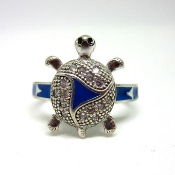 Silver 925 blue meena tortoise ring sr925-131