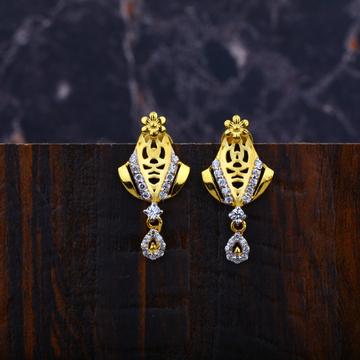 Ladies 916 Fancy Gold Cz Earrings-LFE83
