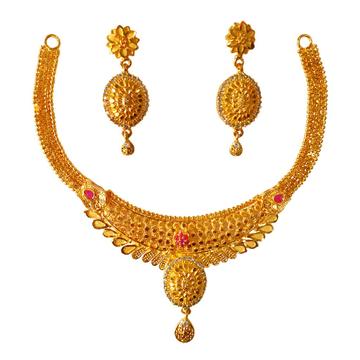 One Gram Gold Forming Necklace Set MGA - STE0111
