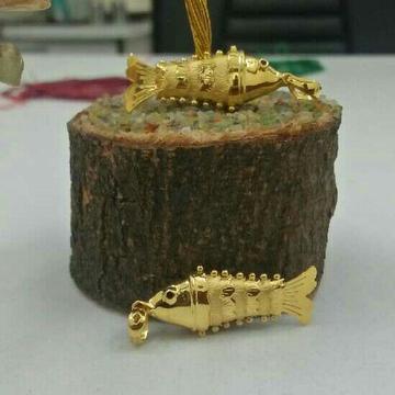 22KT Handmade Stylish Gold Fish Pendant
