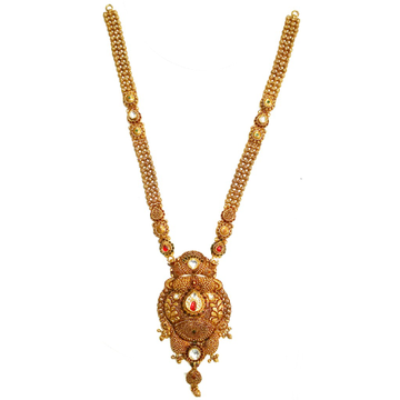 22k Gold Antique Rajwadi Necklace MGA - GLS052