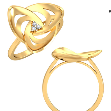 22Kt Yellow Gold Blossoming Beauty Ring For Women