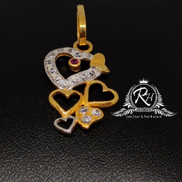 22 carat gold heard shape pendal RH-PL996