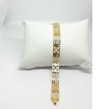 22k Gents Fancy Gold Bracelet G-9205