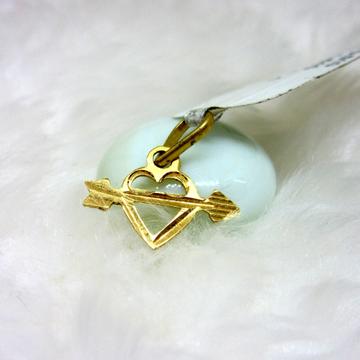 Arrow through the heart symbol pendent