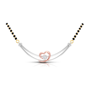 18kt white gold and rose gold mangalsutra