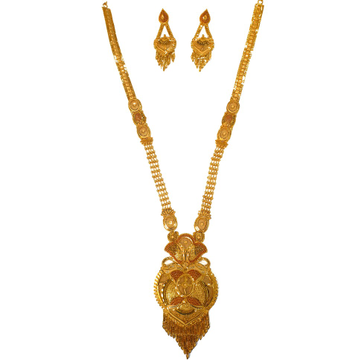 One gram gold forming necklace set mga - gfn0028