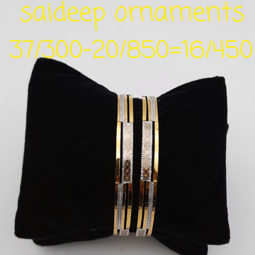 22 kt 916 kadli design bangles by Saideep Jewels