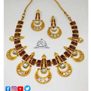 22 carat gold fancy ladies set RH-LS505