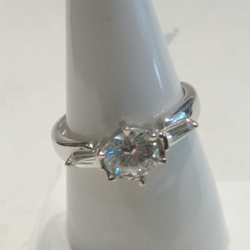 925 Silver Hallmark One Stone Ring  by